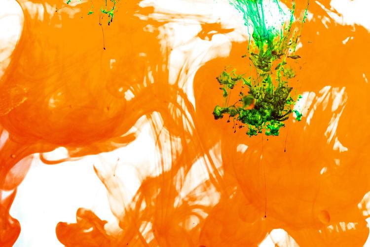 Full frame shot of orange leaves