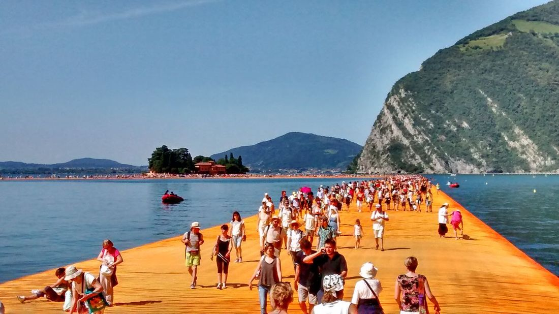 Iseo Lake Iseo The Floating Piers Mountain