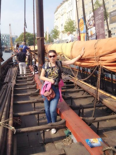 vikingship in Berlin Vikings  Ship Hello World Schifferbauerdamm