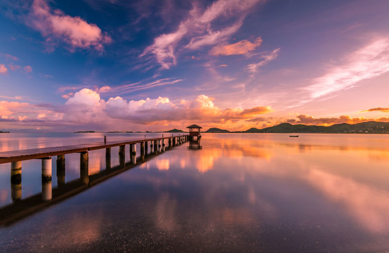 Kaneohe bay pier at sunrise