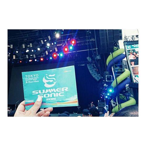 今年で3年目✔✔✔ 本命は明日💗 サマソニ Summersonic Summersonic2015 サマソニファン