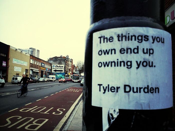 Streetphotography Graffiti Streetart Urban Art Quotes Wheatpaste Life Quotes Tyler Durden