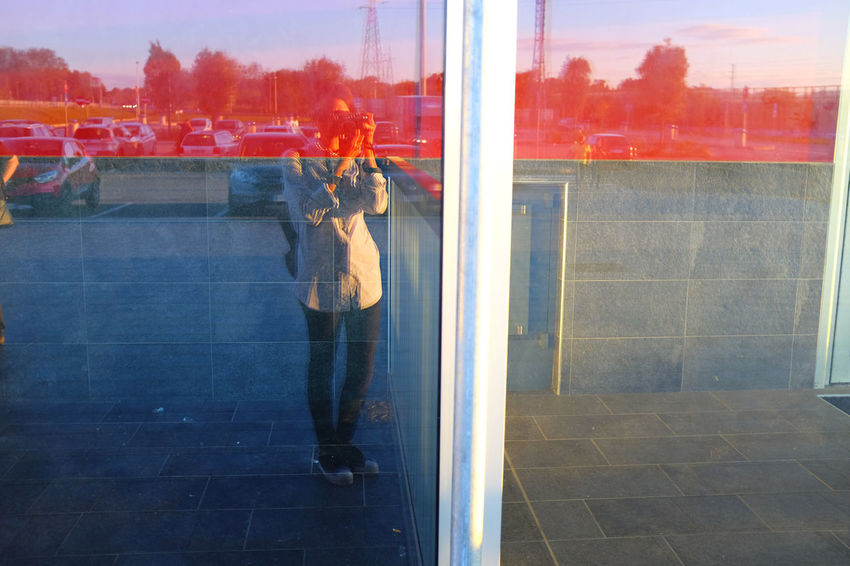 Afternoon Day Design Fuji X100s Fujifilm_xseries Full Length Lifestyles Me Outdoors Red Selfportrait