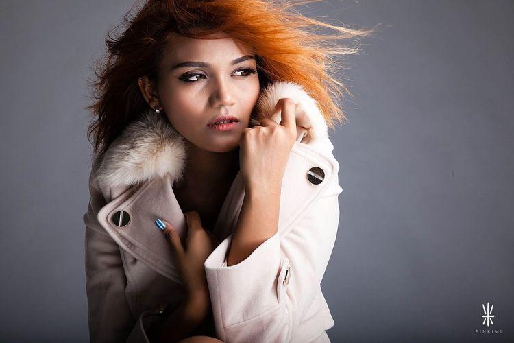 Color Portrait Beautiful Gorgeous Studio