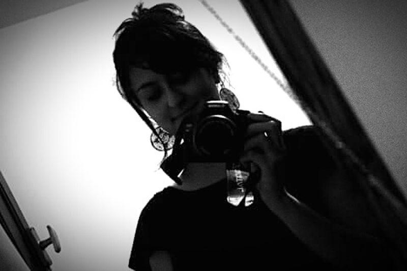 Espejo. Selfie✌ Selfies Self Camera T2irebel Canon EOS 500D Mirrorselfie Black & White