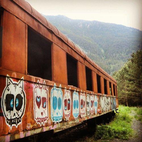 El vagón fantasma. Canfranc Huesca Travel Train igershuesca igersaragon igerszgz streetart