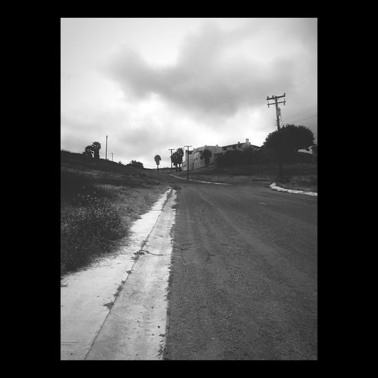 Walking Around Steetphotography Cloudy Abandoned Light And Shadow Blackandwhite Sky Road Street No People Outdoors
