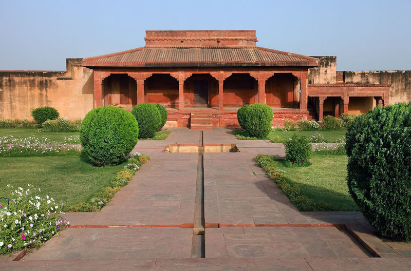 Plants Growing On Field At Fatehpur Sikri Fort