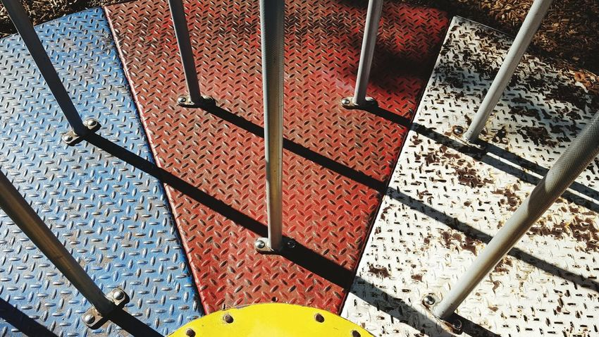 Day No People Close-up Full Frame Perfect Weather Park Life Park Merry Go Round Playground Playground Equipment Summer Shadows Solitary