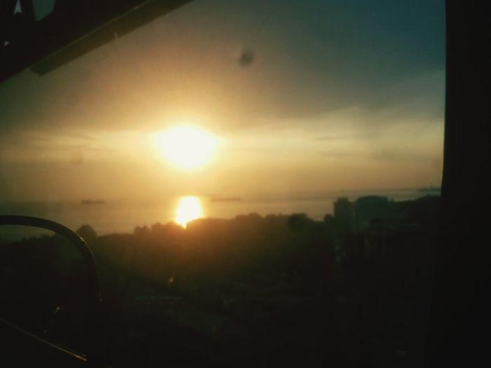 Sunset Sun Car