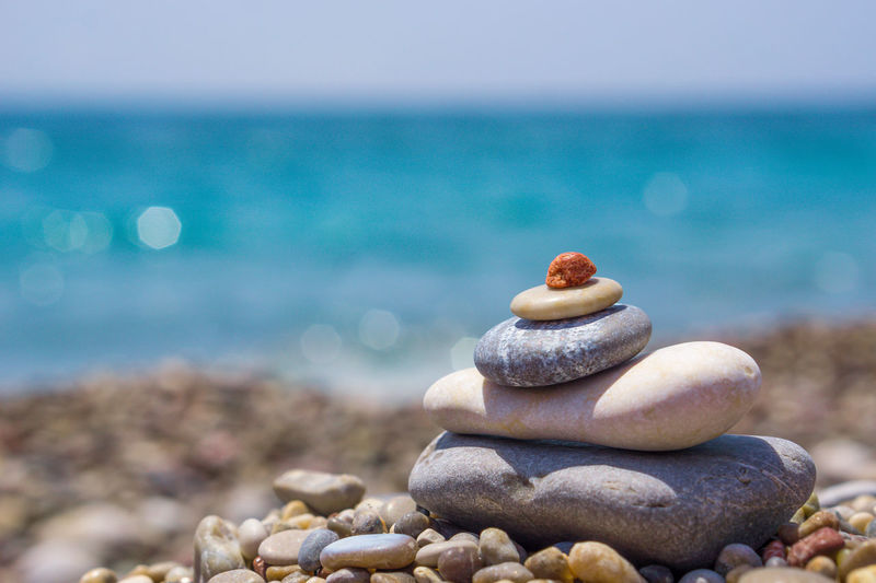 Stone Water Sea Pebble Beach Beach Stack Pebble Relaxation Body Care Balance Rock - Object Stack Rock Seashell Mussel Wave Clam EyeEmNewHere