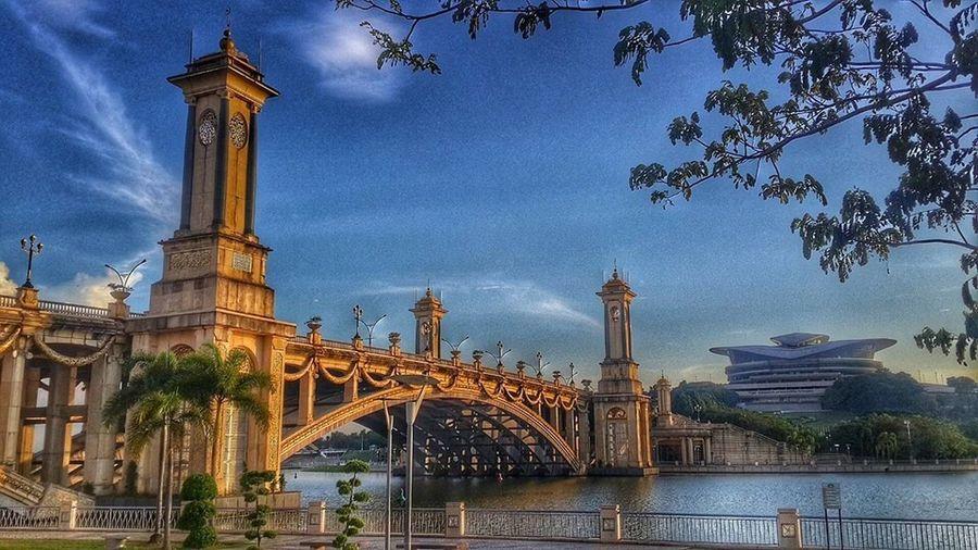 Architecture Bridge - Man Made Structure Travel Destinations Famous Place Gemilang Bridge Putrajaya