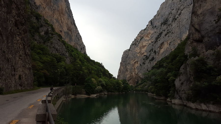Passo del Furlo River View Riverside Beauty In Nature Mountain Nature Non-urban Scene Outdoors Rock Formation Scenics - Nature Tranquility Water