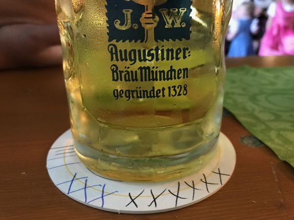 Augustiner Bavaria Beer Tradition Close-up Communication Day Drink Food And Drink Freshness Indoors  No People Table Text Western Script