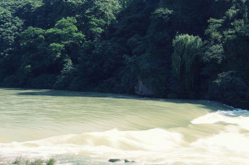 River through Dujiang Dam