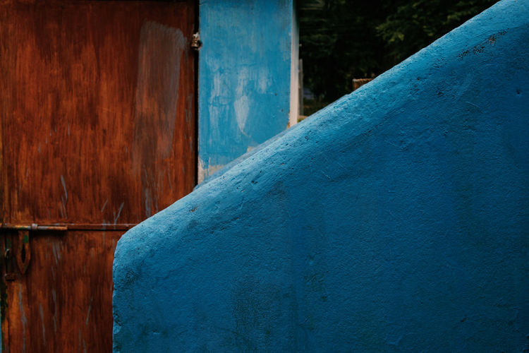 Jharkhand, India Village India Jharkhand Nature Landscape People Colors Silent Moment Silent Pure Life Pure Beauty Wood - Material Blue No People Built Structure Architecture Day Textured  Wall - Building Feature Building Exterior Outdoors