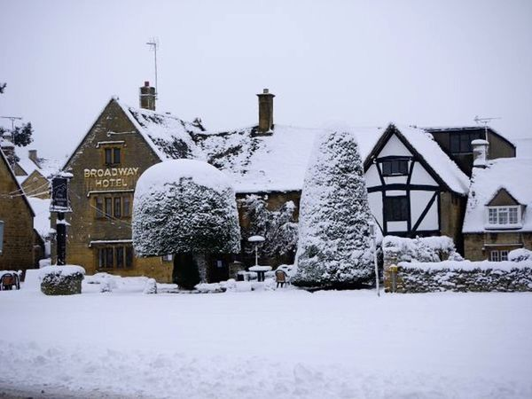 Architecture Broadway Building Exterior Clear Sky Cold Temperature Cotswolds Day Hotel No People Outdoors Season  Snow Weather Winter