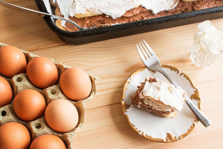 Gluten Free Homemade Romantic Baked Brown Cake Choko Chokolate Chokolate Cake Egg Eggs Food And Drink Homemade Cake No Bake Plate Ready-to-eat Recipe Sour Sweet Sweet Food Table Tasty Temptation Whip Cream With Egg