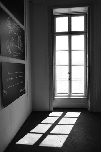 Window Indoors  Day No People Sunlight Shadow Architecture Entrance Glass - Material Door Building Absence Nature Flooring Transparent Built Structure Empty Wall - Building Feature Black And White