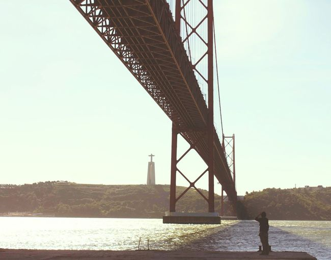 That's Me Hi! Enjoying Life Taking Photos Taking Pictures Morning Morning Light Bridge Christian Lacroix  Lisbon Lisboa Lisboa Portugal Lisbonlovers River River View Riverscape Creative Light And Shadow Lines
