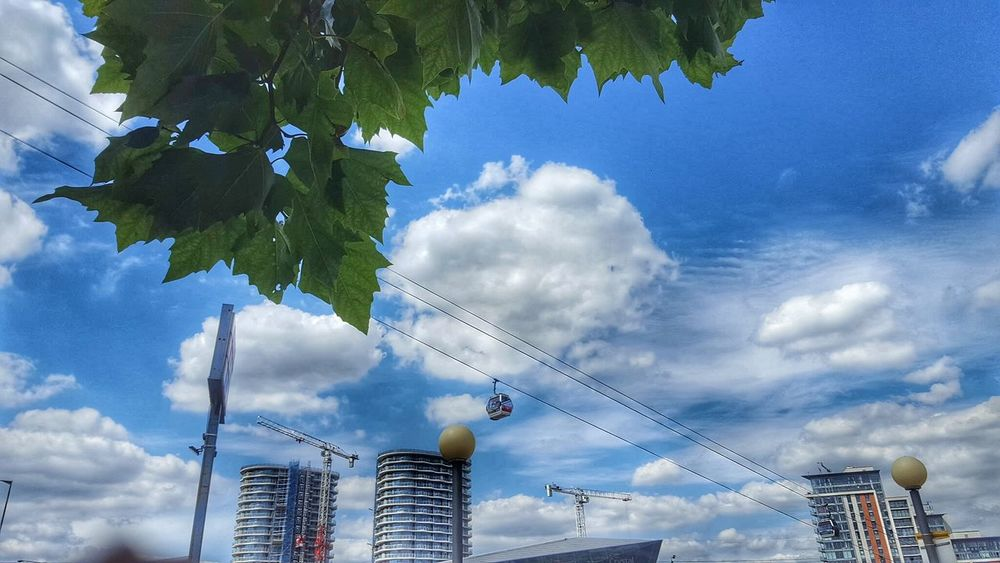 Popular Photos Popular Skyporn Sky_collection Sky And Clouds North Greenwich High Angle View From Above  London Cable Car Mobilephotography Shot On Galaxy Edge 6 Riverbank From Above World Looks Smaller On The Wire On The Move Sky Cablecar United Kingdom LONDON❤
