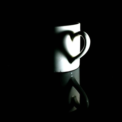 Love Black Background Indoors  Love Heart EyeEm Cup Shadow Shadow And Light Nikon D3300 Low Key Low Key Photography Photography