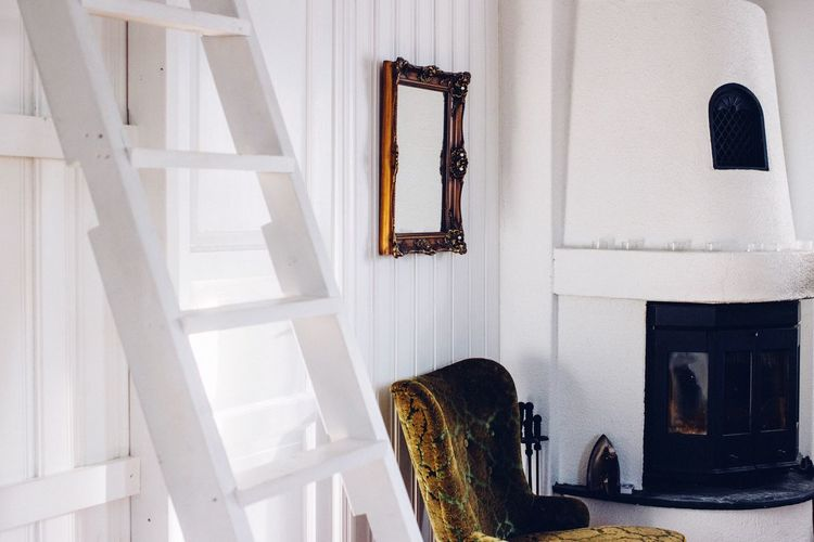 A glimpse into Swedish interior - just lovely! Check This Out Interior Interior Views Scandinavian Bright White Old-fashioned Wooden Fireplace Charming Getting Inspired Mood Mood Captures Eye4photography  Showcase March EyeEm Deutschland