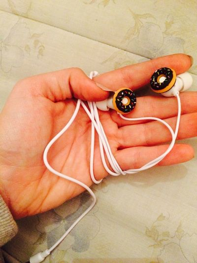 🍩🍩🍩🎧🎧🎧 My New Earphones :3 Homersimpson Cookies Goodmorning People