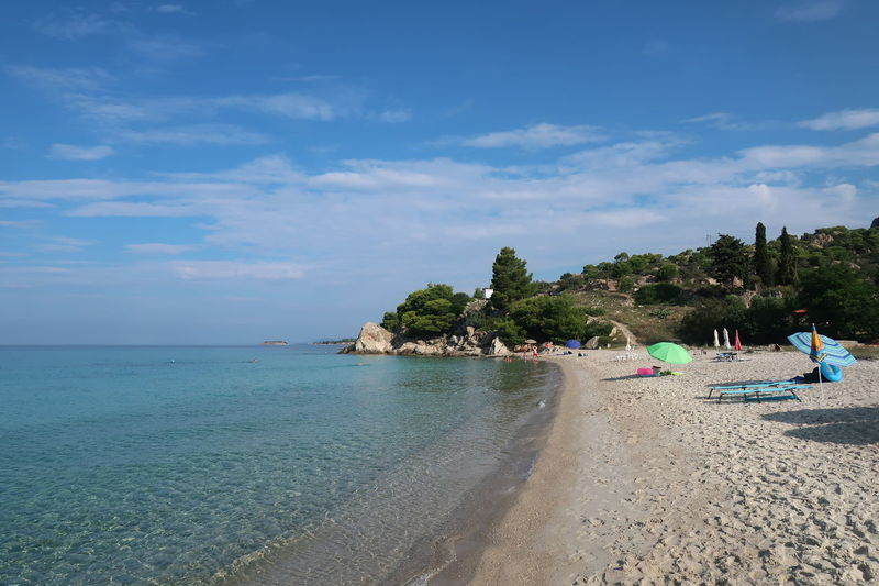 Kaviou beach, Sithonia - Greece Kaviou Beach Nature Travel Beach Beach Day Beauty In Nature Chalkidiki Cloud - Sky Day Greece Holiday Landscape Nature Outdoors Sand Scenics - Nature Sea Sithonia Sky Tourism Tranquil Scene Tranquility Vacation Vacations Water