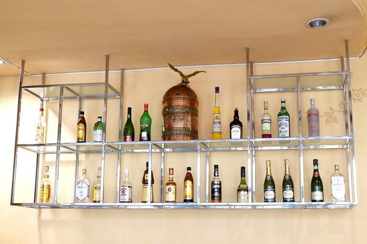 Interior of bottles