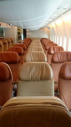 Plane Flying High Economy A380 Singapore Airlines Seats Brown Tan Inside