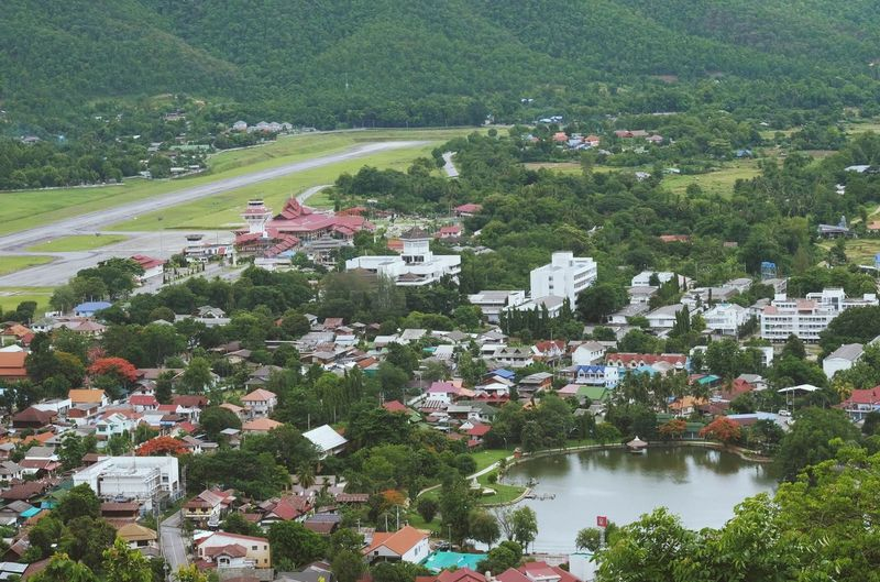 Mae hong son district is small and serenity city in thailand
