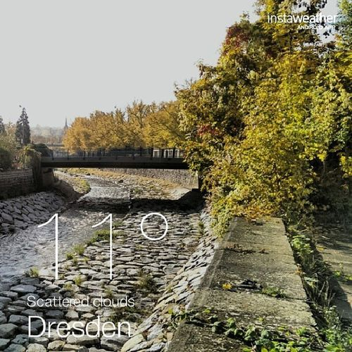 Good morning sunny Dresden, good morning Saxony. Not a bad autumn day at all, after all of the rain yesterday.