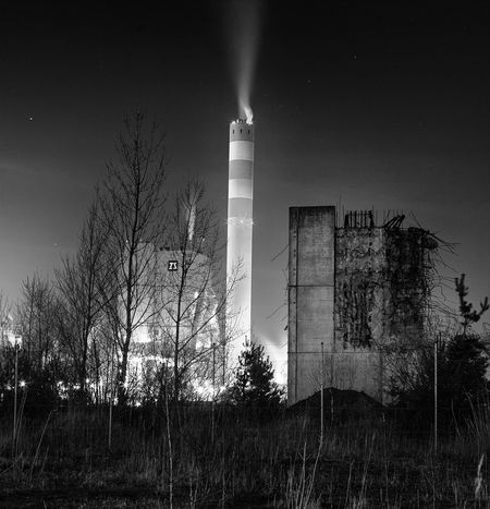 Taking Photos Nightphotography Industrial Landscapes Blackandwhite Stendal