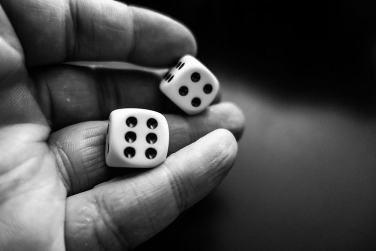 Dice roll Human Hand Hand Human Body Part Leisure Activity One Person Luck 10 Dice Gambling Holding Human Finger Close-up Indoors  Body Part Nail Relaxation Leisure Games Finger Lifestyles Opportunity