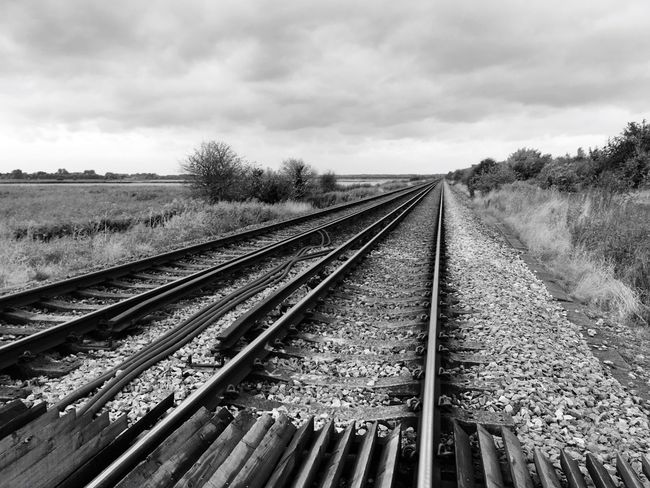 Monochrome Photography railway lines