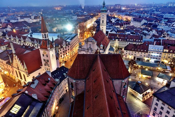 View of Munich, Germany - New Years Day 2016! Munich Germany Alter Peter Roof Tops Cityscapes City Old Town