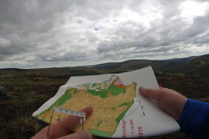 Orienteering on the open mountain Alternative Fitness Close-up Cloud - Sky Holding Leisure Activity Map Reading Mountain Running Orienteering
