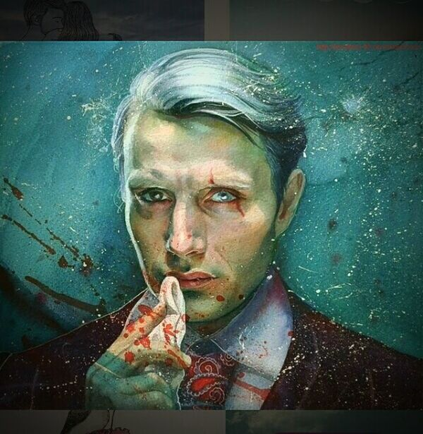 Cool Hannibal Lecter Drawing Self Portrait Painting Eyemphotography Picture Handsome Psicopata