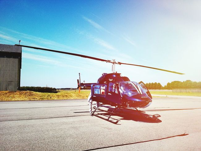 Off to a new Adventure. Helicopter Catching A Flight Manching