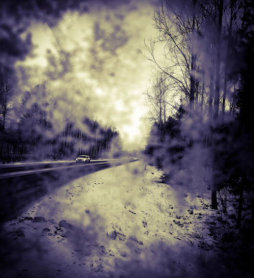 Huaweiphotography Honor Huawei Huawei Photography Huawei Honor 9 HuaweiHonor Blackandwhite Black And White Black & White Frozen Car Wintermorning Winter Sky Cloud - Sky Outdoors No People Tree Backgrounds Nature Day Close-up