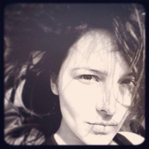 Selfie Black And White Model Portrait