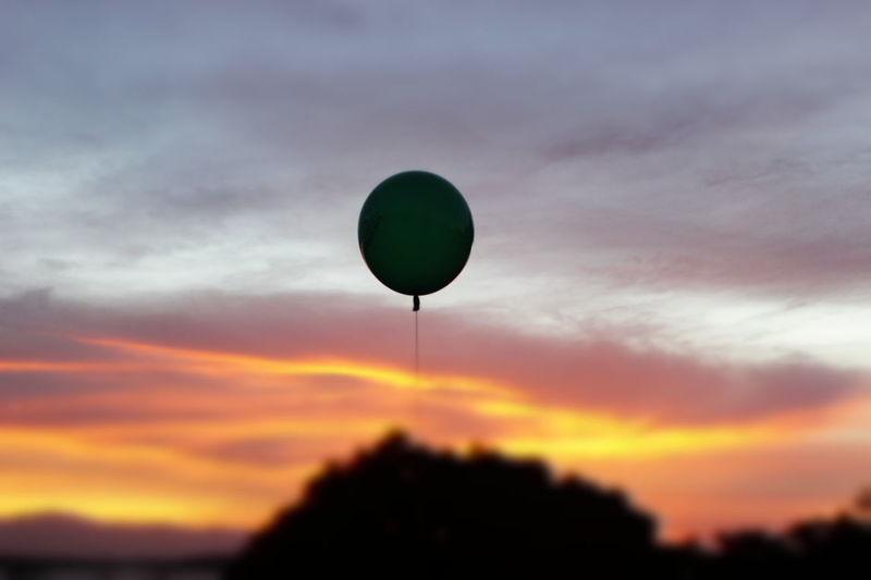 EyeEmNewHere Goodbyes Balloon Sunset