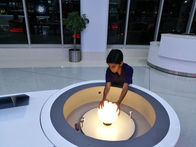 Planeterium Sharjah Child Exploring Science One Boy Only Indoors  One Person