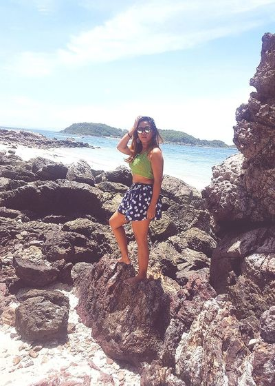 Lale on the rock 😅😅 Beach Young Women Sea Nature Model Beach Time Enjoying The Sun Sexygirl Women Of EyeEm EyeEm Selects Sexylady Chilling Weekendtrip Lookatme Outdoors Travel