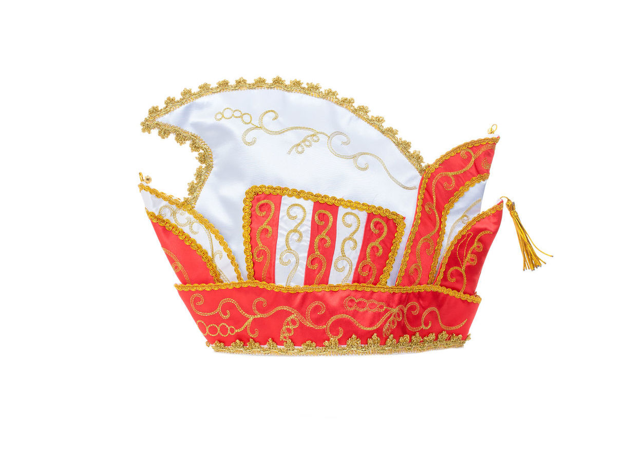 Carnival cap on white background Carnival Carnival Season Hat Cap Carnival Cap Cut Out Shrove Monday Studio Shot White Background