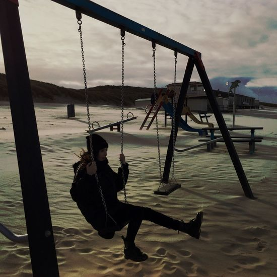 Lina Lolita Swinging Winter Sea