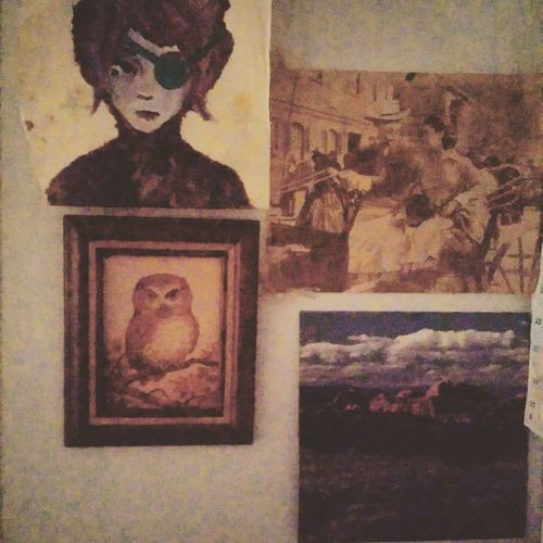 The artist wall . My room is a giant collage