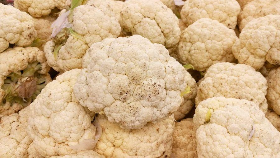 Full Frame Shot Of Cauliflower For Sale