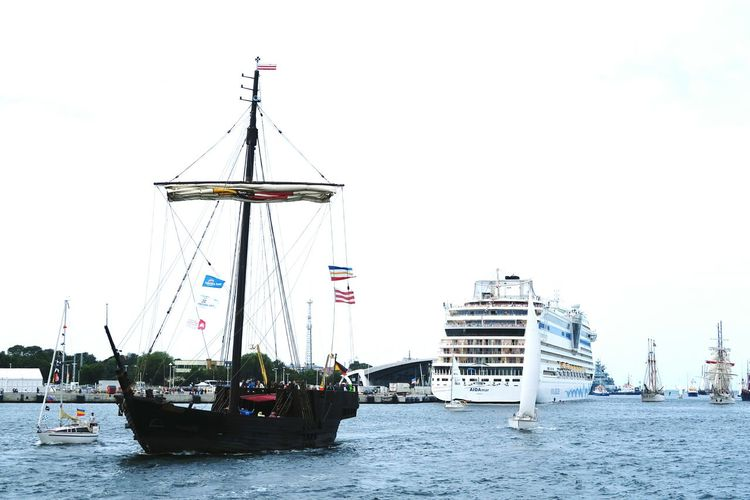 Hansesail 2016 in harbor of Warnemuende and Rostock. historical sailing ships from all over world coming to this yearly event. Aida Boat HanseSail Mast Mecklenburg-Vorpommern Mode Of Transport Nautical Vessel Outdoors Sailboat Sailing Sailing Boat Ship Sky Tourism Tranquil Scene Tranquility Transportation Travel Destinations Warnemuende Warnemünde Warnemünde 20016 Water Waterfront